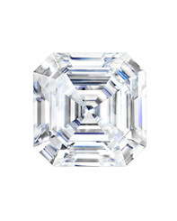 Forever One Charles & Colvard Loose Asscher Cut Moissanite
