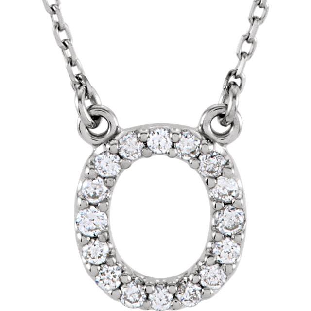 Diamond Initial Pendants