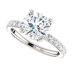 The Beverly 2CT Forever One Moissanite Solitaire Engagement Ring