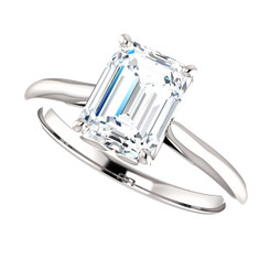 The Annabelle Ring Series  - NEO Moissanite 1.75 Emerald Cut Engagement Ring