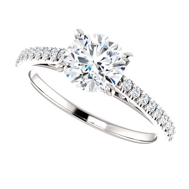 Moissanite Forever One Engagement Rings