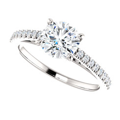 The Leyna Forever One Moissanite 1CT Round Cut Solitaire Engagement Ring