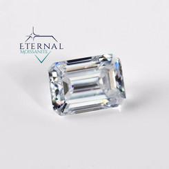 Eternal® Moissanite Emerald Cut Loose Stone - EF Color