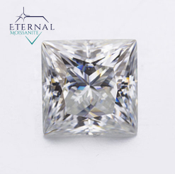 Eternal® Moissanite Princess Cut Loose Stone - EF Color