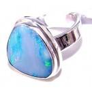 .925 Sterling Silver Fire Opal Ring