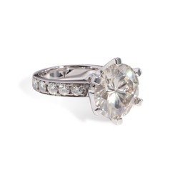 The Bradley Series Ring - Eternal Moissanite 9CT = 14mm Round Brilliant Cut Engagement Ring - VIDEO BELOW