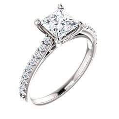 The Infinity Ring Series - Eternal Moissanite 1CT = 5.5mm Princess Cut Engagement Ring - VIDEO BELOW
