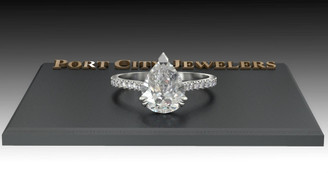 The Micayla Ring Series - Eternal Moissanite Pear Cut With Diamond Sides & Halo Engagement Ring