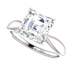 The Gracie Ring Series - Eternal Moissanite Asscher Cut 2.20CT Solitaire Engagement Ring - VIDEO BELOW