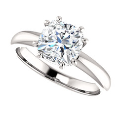 The Stella Ring Series - NEO Moissanite 1.30CT Cushion Cut 8 Prong Solitaire Engagement Ring