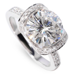 The Ellen Ring Series - Eternal Moissanite 4CT Round Brilliant Cut Engagement Ring
