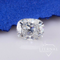 "Eternal® Moissanite Elongated Cushion Cut ""Crushed Ice"" Loose Stone - EF Color"