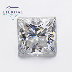 Eternal® Moissanite Princess Cut Loose Stone - GH Color