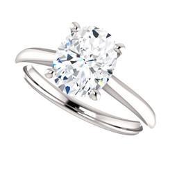 The Jasper Ring Series - Eternal Moissanite 2.10CT Oval Cut Engagement Ring