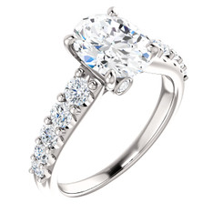The Taylor Ring Series - Eternal Moissanite 2.10CT Oval Cut Engagement Ring