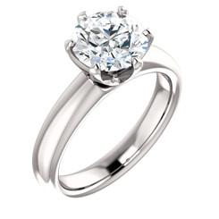 "The Kaylee Ring Series - Eternal Moissanite 2CT Round ""DIAMOND CUT""  Engagement Ring"