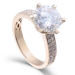The Laruen Ring Series - Eternal Moissanite 2CT Center Round Brilliant Cut Engagement Ring