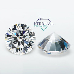 "Eternal® Moissanite Round ""Diamond Cut"" Loose Stone - EF Color"