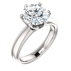 "The Kaylee Ring Series - Eternal Moissanite 3CT Round ""DIAMOND CUT""  Engagement Ring"