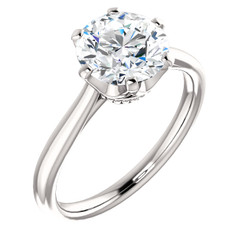 The Gabriella Ring Series - Eternal Moissanite 2CT Round Brilliant Cut Engagement Ring