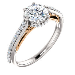The Vivian Ring Series - Eternal Moissanite 1CT Round Brilliant Cut Engagement Ring