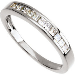 Ladies 14K White Gold 1/3cttw Channel Set Band
