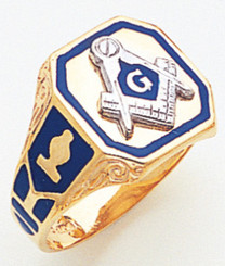 Mens Large Open Back Master Mason Ring