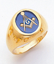 Men's Master Mason Ring (Open Back) Handsome