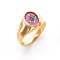 Men's Master Mason Ring (Open Back) Conversation Piece