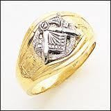 Mens Open Back Master Mason Ring