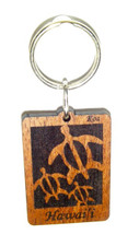 Hawaiian Koa Key Chain - Honu