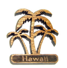 Hawaiian  Koa magnet Coconut Trees