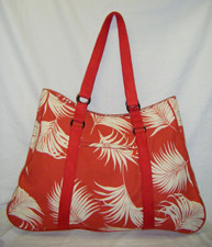 Island Palm red Tote