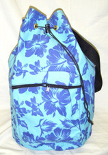 Hawaiian Pareau print sling bag Blue & blue