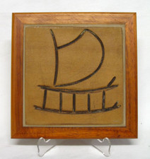 Hawaiian Outrigger Ceramic tile in wood