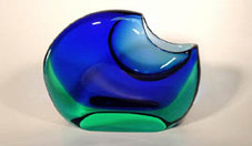 Blue Hawai'i Moon Vase