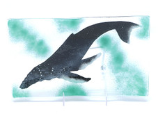 Humpback Whale Glass plate