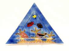 Colbalt Blue Triangle Aquarium Plate