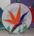 Bird Of Paradise Glass Fusion Plate