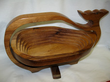 Koa Whale basket Large