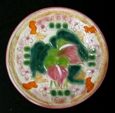 Ceramic Plate Hawaiian Anthirium