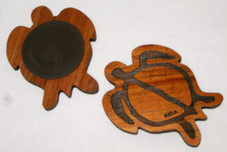 Hawaiian Honu Koa Wood Magnet
