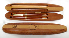 Rosewood Double Pen Set in Longboard Case
