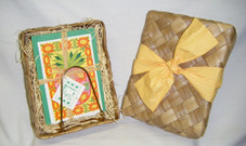 Hawaiian Pineapple Recipe Card stand and notecards set