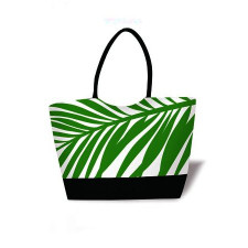 Hawaiian Resort Tote Green Palm Frond