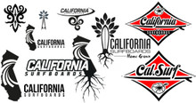 Cal Surf Mixed Sticker Pack
