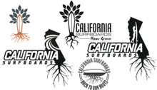 Cal Surf Roots Sticker Pack