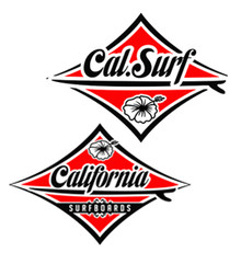 Classic Cal Surf  Sticker Pack