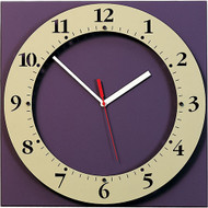 "15"" Square Wall Clock with Round ""Floating"" Face - Peter Pepper Model 326 - Analog"