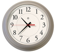 "13.75"" Round Wall Clock with Acrylic Cover - Peter Pepper Model 352 - Analog"